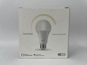 Alexa Smart Light Bulb 75W Equivalent E26 8W Gosund 2 Pack, Warm White Home