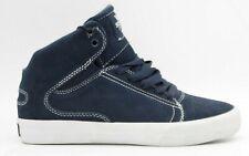 SUPRA Society Mid Mens Suede Mid-top Skate Sneaker Skateboarding Navy Size 8