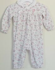 CHAPS Size 6 Months White Mini Flowers Long Sleeves Bodysuit