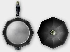 "Finex Cast Iron 12"" Eight Sides Skillet Cooking Pan with Lid NEW"