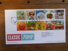 GREAT BRITAIN 2017 CLASSIC TOYS SET 10 STAMPS FDC FIRST DAY COVER- EDENBRIDGE
