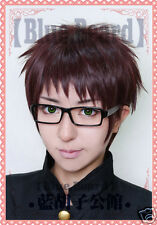 Scryed Noragami Kazuma Anime Cosplay Costume Wig +Glasses +TRACK +CAP