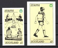 Staffa, Scotland Local. 1982 issue. 75th Scouting Anniversary s/sheets.