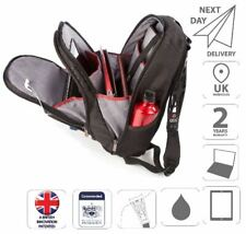 """15.6"""" Laptop and iPad Backpack Bag Dual Non-Slip Straps Black is0204"""