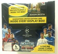 2015/16 TOPPS UEFA CHAMPIONS LEAGUE MATCH ATTAX SOCCER TRADING CARD GAME BOX  (