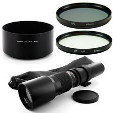 Albinar 500mm Tele Lens + Filter,Hood for Sony Alpha SLT A77 A65 A35 A55 A33 A58