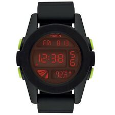 Nixon A197760 Unit All Black Red Unisex Digital Watch