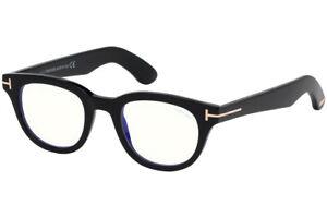 TOM FORD FT5558-B 001 Eyeglasses Shiny Black Frame 46 mm