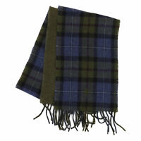 Polo Ralph Lauren 2-face Wool Scarf Plaid made in Italy - Olive/Blue -