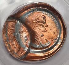 2000 PCGS MS66 Huge Double Struck Obverse Die Cap Lincoln Cent Mint Error