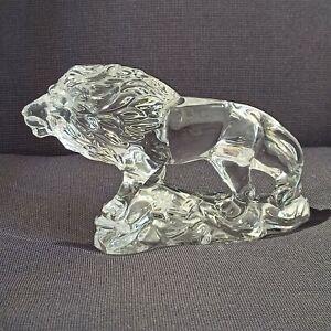 Wonders of the Wild Clear Crystal Glass Lion Figurine Crystal Princess House PH