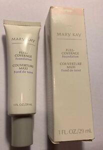 Mary Kay Full Coverage Foundation ~ Ivory 104  Gray Cap