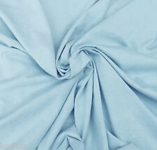 Baby Blue Cotton Fabric Jersey Knit  by the Yard (Good For Moby Wrap)