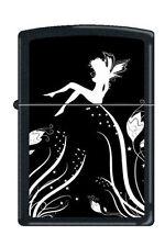 Zippo 0243 midnight fairy magic black matte RARE & DISCONTINUED Lighter
