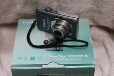 *Boxed Canon PowerShot SD1200 IS Digital Camera W/Memory Card, Cable & Charger