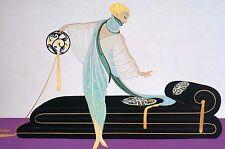 Erte 1987 The SALON HAIRDRESSER Art Deco Matted Fashion Print Ready to Frame