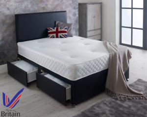 MEMORY FOAM DIVAN BED SET WITH MATTRESS +HEADBOARD 4FT6 Double 5FT King SALE!!!