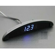 12V LED Digital Thermometer Voltmeter Alarm Clock Gauge Car Dash Sets Panels