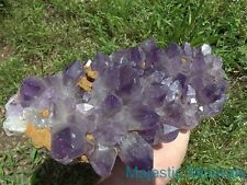 RICH PURPLE COLOR_HUGE CLEAR Amethyst Quartz Crystal DOW Cluster Zambia / Africa