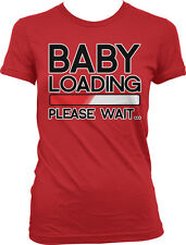 Baby Loading Please Wait - Pregnancy Expecting Funny Juniors T-shirt