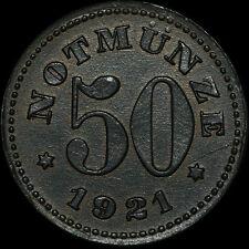 NOTGELD: 50 Pfennig 1921. H. HEYE GLASFABRIK SCHAUENSTEIN / HESSEN-NASSAU.