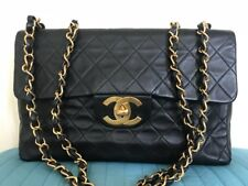CHANEL MAXI SINGLE FLAP LAMBSKIN VINTAGE