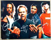 Metallica Band Autographed Photo Hand-Signed 8x10.5 +Certificate of Authenticity