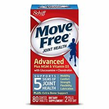 Move Free Advanced Plus MSM and Vitamin D3 Joint Health Supplement 80 ct