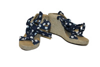 Blue Spotted Jasper Conran Shoes Size 36 UK 3 Ladies Strappy Heeled Sandals