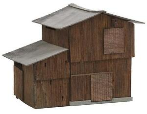 FALLER 120270 Gates Barn Shed Vehicle Shelter 4 1/32x3 5/8x3 3/16in New Boxed
