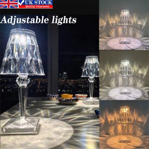 3 Colors Kartell Crystal Table Lamp Night Lamp Study Lamp Desk lamp Decorative