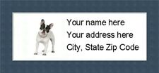 """French Bulldog Return Address Labels  - Personalized """"BUY 3 GET ONE FREE"""""""