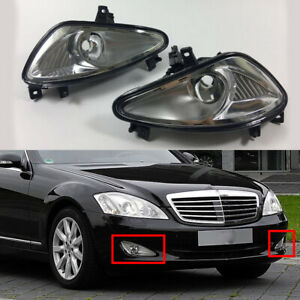 Pair Front Fog Light Lamp No Bulb Fit For Mercedes Benz W221 S550 S600 2007-2009
