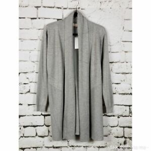 PHILOSOPHY Open-Front Cardigan Gray Soft Versatile XS NWT
