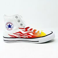 Converse Chuck Taylor All Star Hi Flames White Red Yellow 166257F Mens Shoes