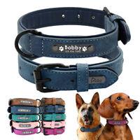 Personalisiertes Leder Hundehalsband Mit Gravur Namen 5 Farben K9 S M L XL XXL
