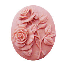 Silicone Molds Soap Making Tools DIY Polymer Clay Resin Mould Craft 2 roses
