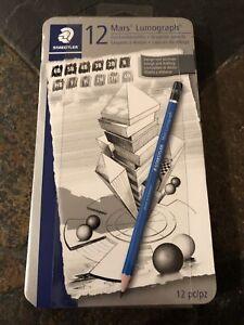 Staedtler Mars Lumograph Graphite Pencils 12 pc