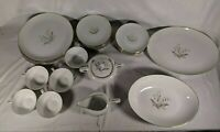 "VTG 27 Pc Kaysons Fine China Tea Cups Saucers, 9"" Dinner, Golden Rhapsody 1961"