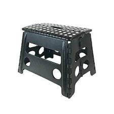 """Core Pacific 12"""" Step Stool Black With White Dots"""