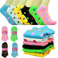New 12 Pairs For Women Fashion Cotton Casual Ankle Low Cut Socks Size 9-11 DOTS