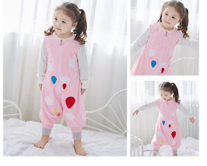 HOT Cute Soft Baby Kids Boys Girls Animal Sleeping Bags with Feet Age 1-7 Years