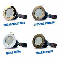 10 x LED Fire Rated Downlights Downlighters GU10 LED Bulbs Spotlights Ceiling UK