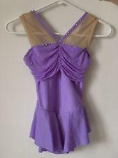 Lilac Gemmed Figure Skating Freeskate Dress