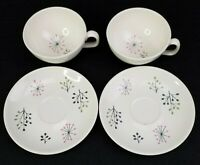 Franciscan Echo Atomic Cup And Saucer Set of 2 Gladding Mcbean Mid-Century Retro