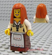 NEW Lego Pirates Orange Hair FEMALE MINIFIG Tan Brown Skirt/Dress Princess Girl