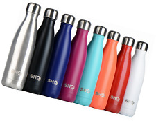 YOUR Bottle! by SHO Ultimate Vacuum Insulated Double Walled Steel 500ml Black