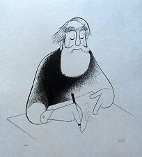 "AL HIRSCHFELD ""SELF PORTRAIT AT 99"" Hand Signed Limited Edition Lithograph Art"