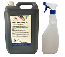 Black Night Carpet Dye Stains Mats Interior Renovation - 5L + FREE Spray Bottle