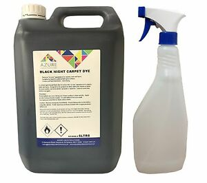 Black Night Vehicle Carpet Dye Mats Interior Renovation - 5L + FREE Spray Bottle